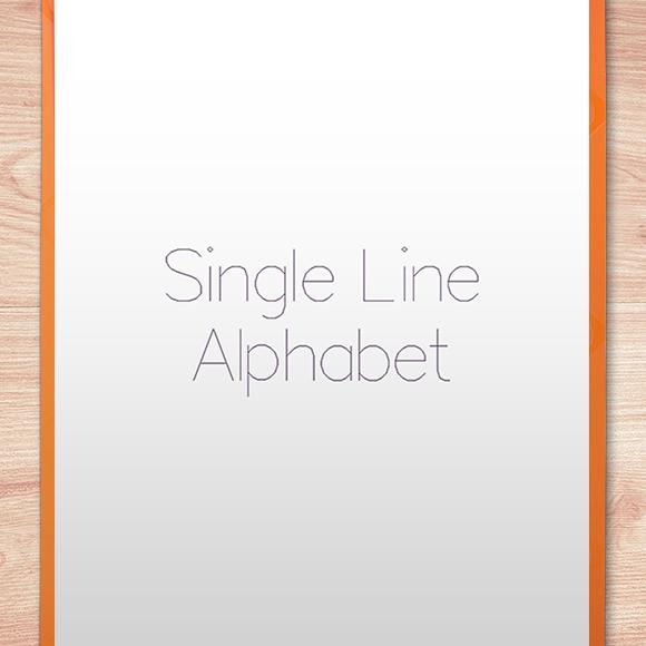 Single Line Font - Single Line Example