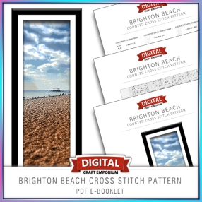 Brighton Beach Cross Stitch Pattern eBooklet Preview