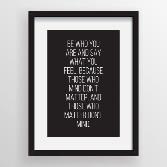 Be Who You Are Inspirational Quote