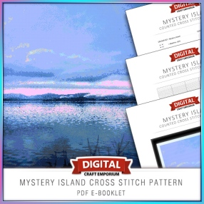 Mystery Island Cross Stitch Pattern eBooklet Preview
