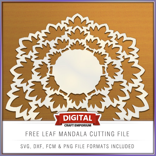 Free Leaf Mandala Cutting File FCM SVG DXF