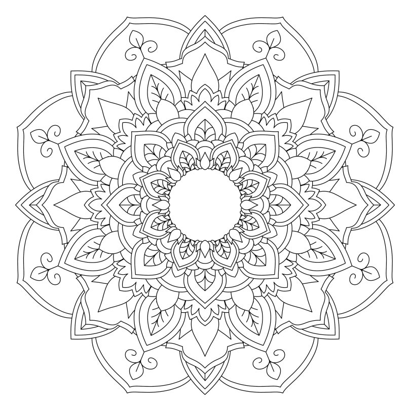 Free Mandala Colouring Sheet