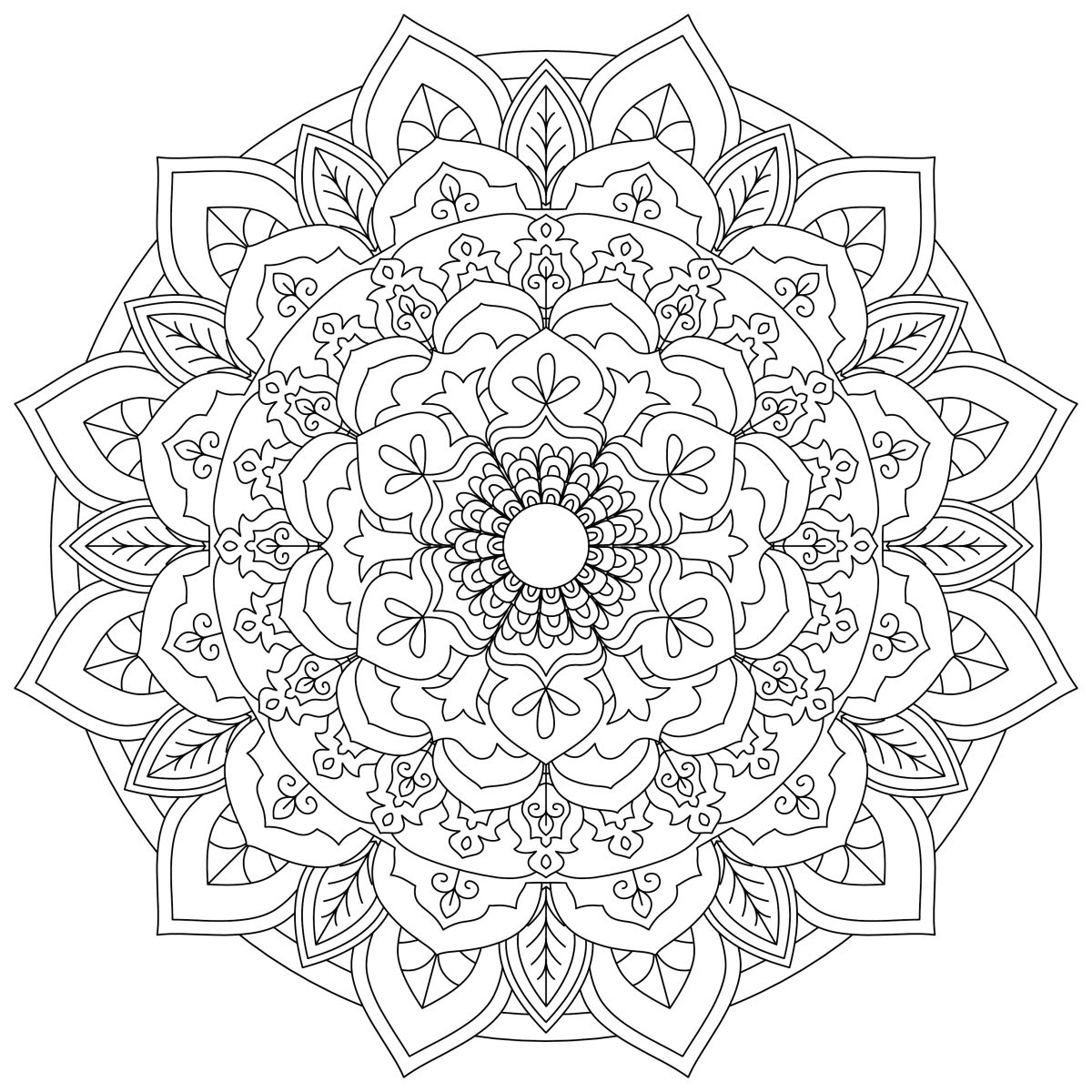 Mandala Monday 3 – Free Download To Colour In