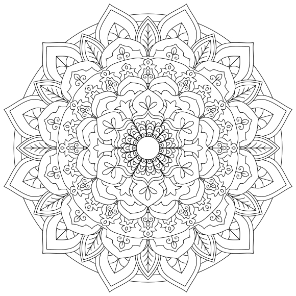 Mandala Monday 3 Free Colouring In Design