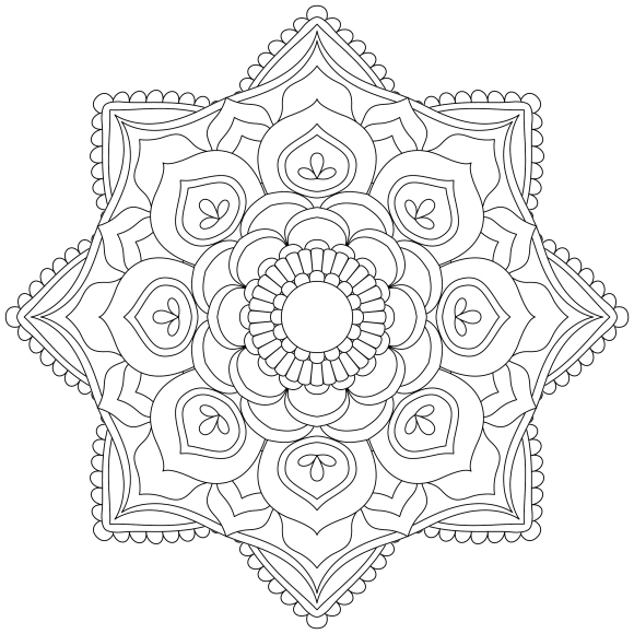 Mandala Monday 4 Free Colouring In Design