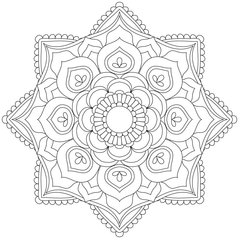 Mandala Monday 4 Free Colouring In Design