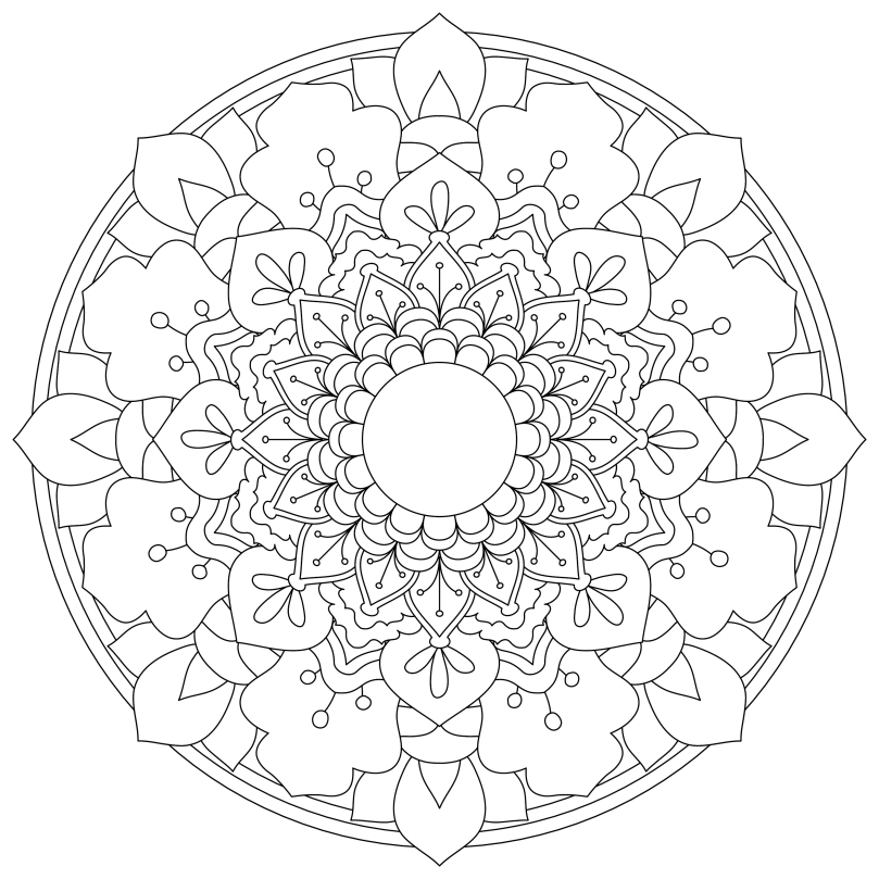 Monday Mandala 5 Free Colouring In Design