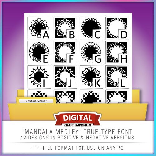 mandala-medley-true-type-font-preview