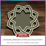 Cathedral Window Cutting File Collection FCM SVG DXF 1