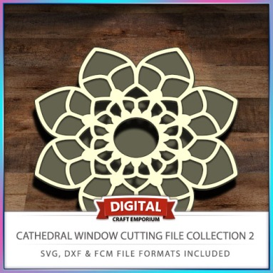 Cathedral Window Cutting File Collection FCM SVG DXF 2