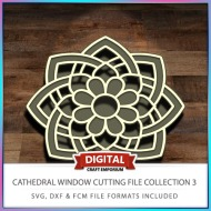Cathedral Window Cutting File Collection FCM SVG DXF 3