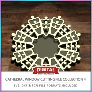 Cathedral Window Cutting File Collection FCM SVG DXF 4