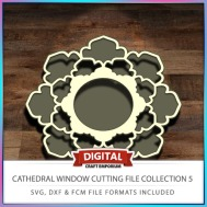 Cathedral Window Cutting File Collection FCM SVG DXF 5