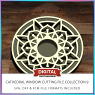 Cathedral Window Cutting File Collection FCM SVG DXF 9