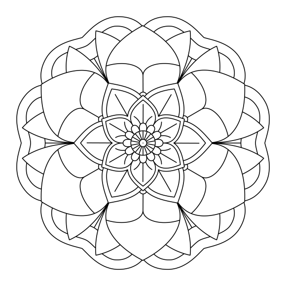 Mandala Monday 23 - Free Download To Colour In