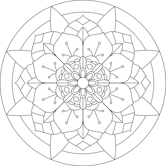 Mandala Monday 27 - Free Download To Colour In