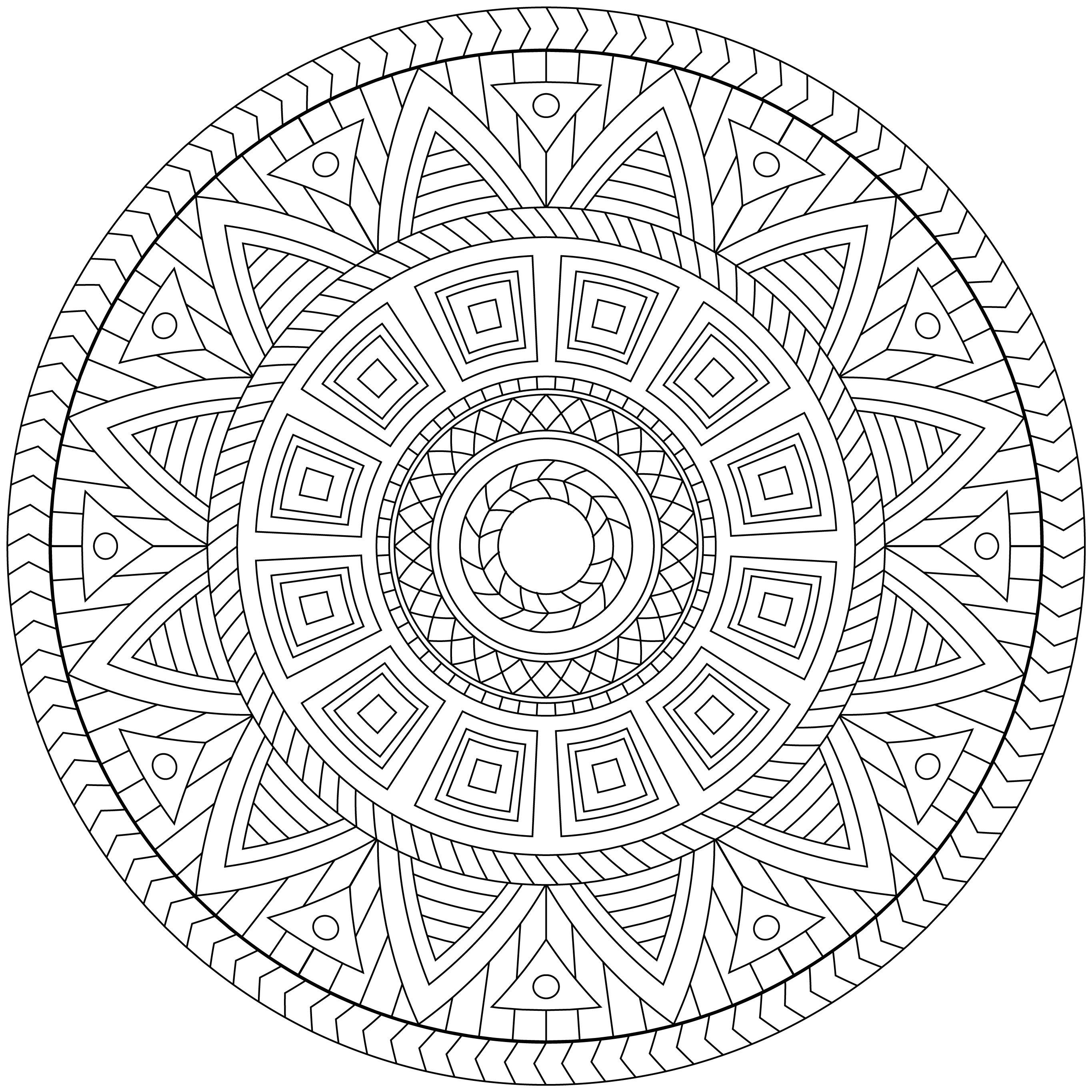 mandala monday 29 1 free download to colour in - Pictures To Colour