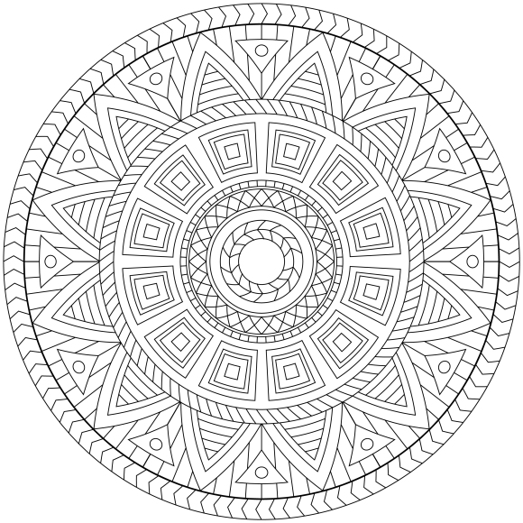 Mandala Monday 29 (1) Free Download To Colour In