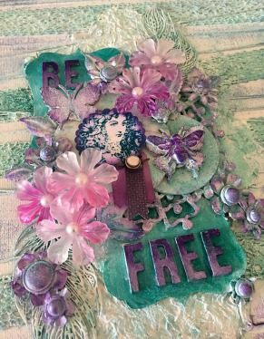 Be Free Mixed Media Canvas Creation (34)