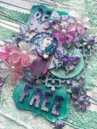 Be Free Mixed Media Canvas Creation (40)