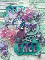 Be Free Mixed Media Canvas Creation (46)