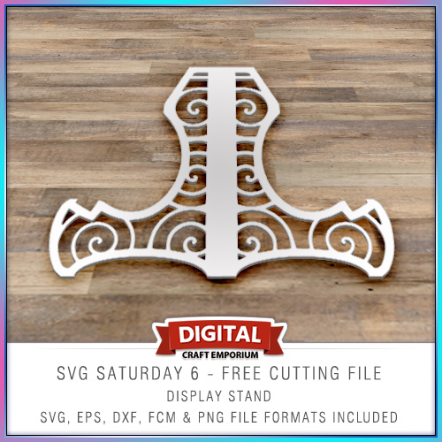 SVG Saturday 6 Card Display Stand Cutting File