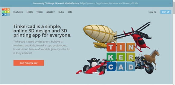 Tinkercad 3D Design Software