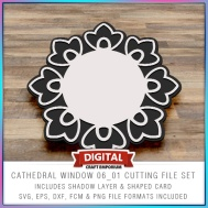 Cathedral Window Cutting File Styles 01, 02, 03, 04, 05, 06, 07, 08 and 09 - DXF, FCM and SVG File Formats Included