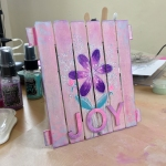 Stamp It Sunday 5 Making Mini Pallet Art with Craftwork Cards Rubber Stamps