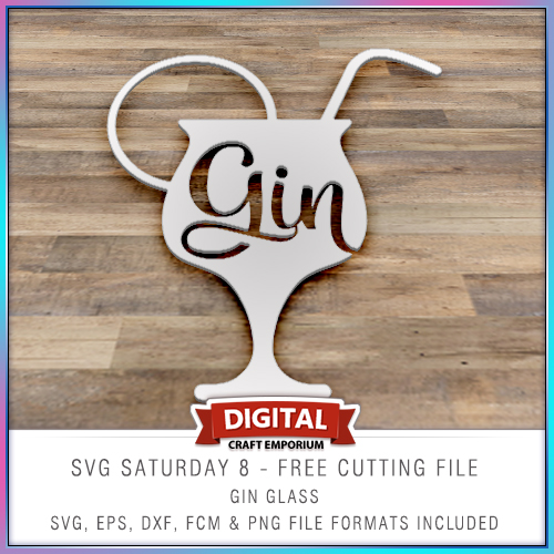 Free SVG Cutting File Gin Cocktail Glass
