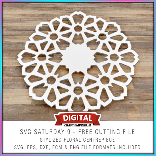 SVG Saturday 9 Free Stylized Floral Centre Piece Cutting Pattern