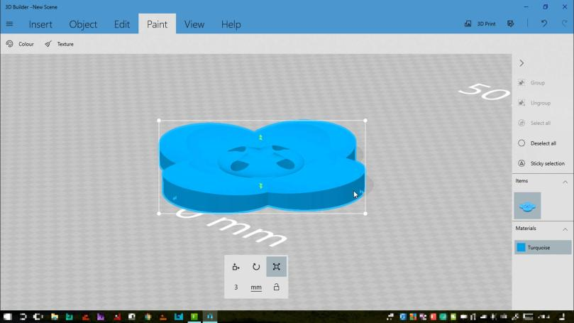 Creating A Flower Button With Stitch Channels In Microsoft 3D Builder