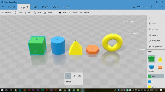 Designing Basic Beads For 3D Printing In Microsoft 3D Builder 1