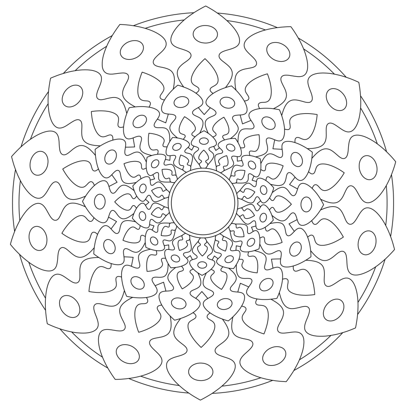 Mandala Monday 45 Free Download To Colour In