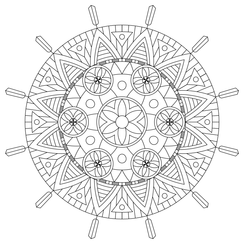 Mandala Monday 49 Free Download To Colour In