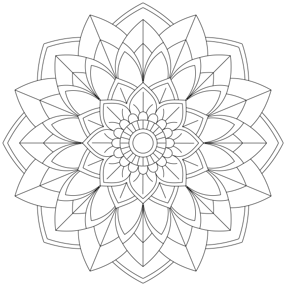Mandala Monday 51 Free Download To Colour In