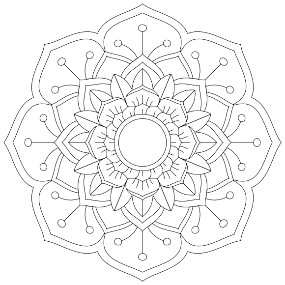Mandala Monday 53 Free Download To Colour In
