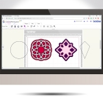 Scan N Cut Saturday Designing Complex Frames From Basic Shapes In Canvas Workspace GC