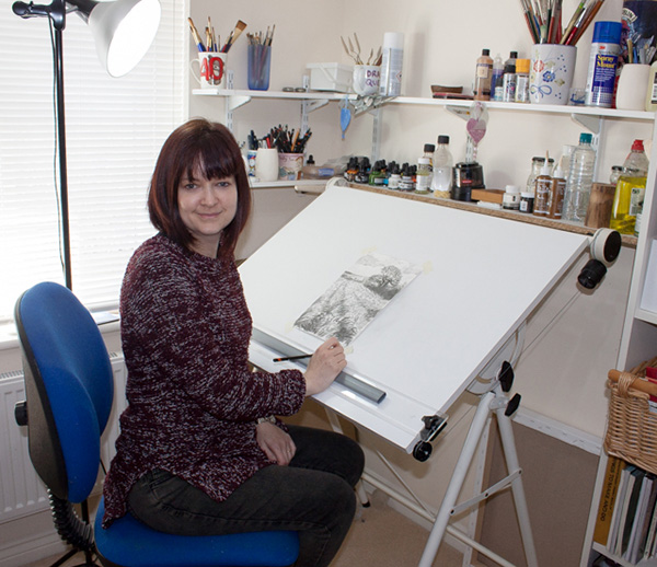 Alice Hole Artist In Her Studio
