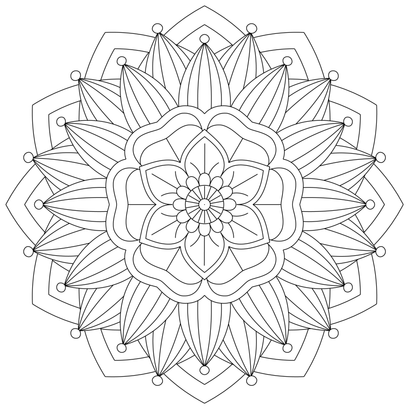 Mandala Monday 53 Free Printable Download To Colour In