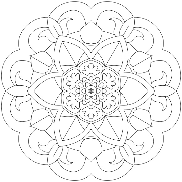 Mandala Monday 54 Free Download To Print And Colour In