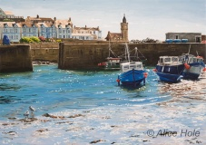 Sea-Sparkling-Light,-Porthleven