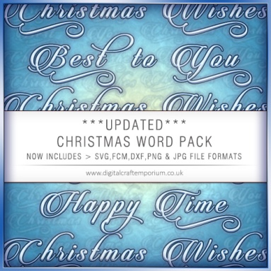 1. Christmas Word Pack Preview