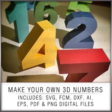 3D NUMBERS SET PREVIEW