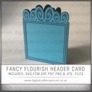 Fancy Flourish Header Card Preview