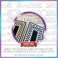 Fancy Top Gatefold Card Preview
