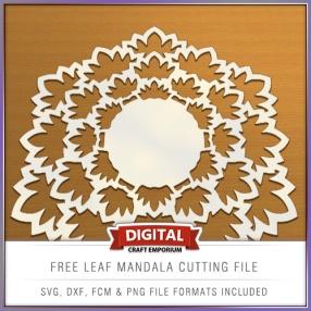 Free Leaf Mandala Cutting File Preview Image