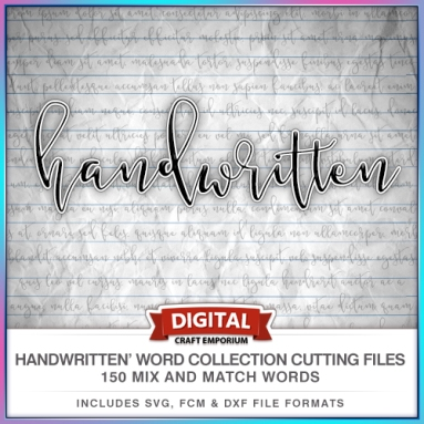 Hand Written Word Collection Preview