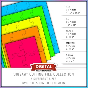 Jigsaw Cutting File Collection Preview
