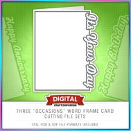 Occasions Word Frame Card Set Preview